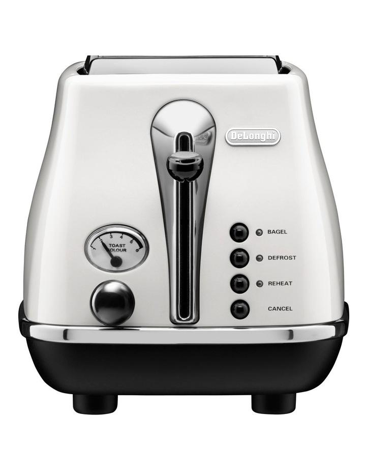 CTO2003W Icona White 2 Toaster image 1