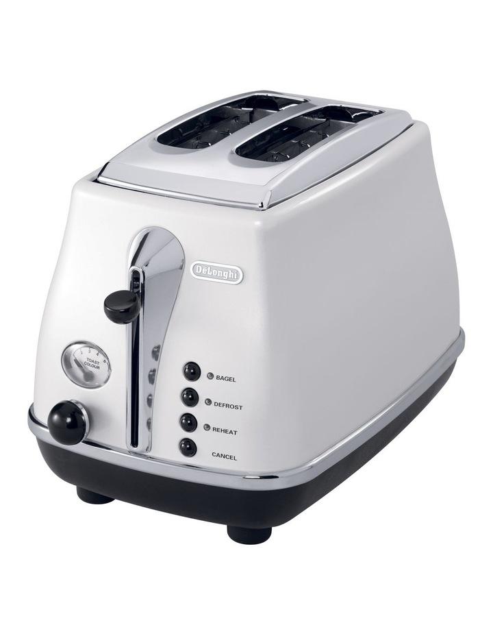 CTO2003W Icona White 2 Toaster image 2