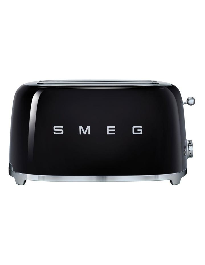 50's Style Longslot 4 Slice Toaster Black TSF02BLAU image 1