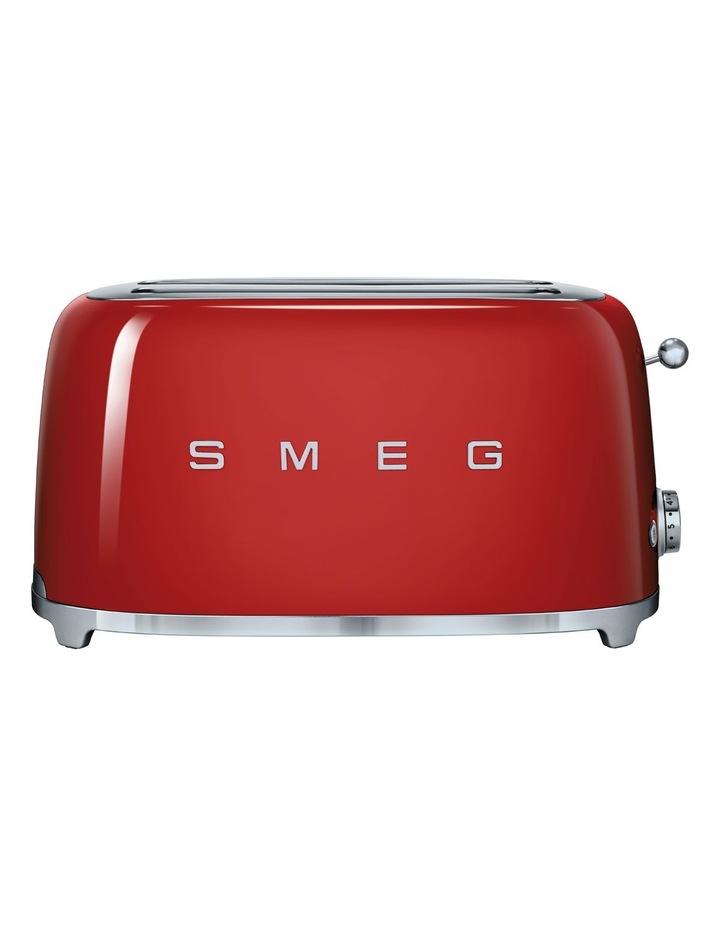 50's Style Longslot 4 Slice Toaster Red TSF02RDAU image 1