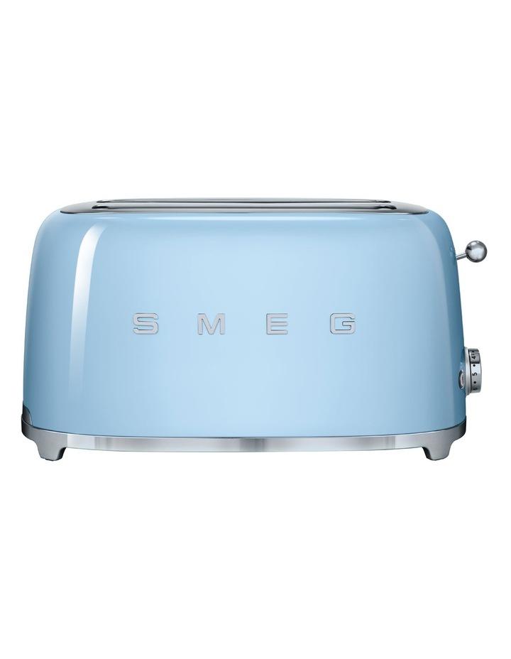 TSF02PBAU 50's Style Longslot 4 Slice Toaster: Pastel Blue image 1