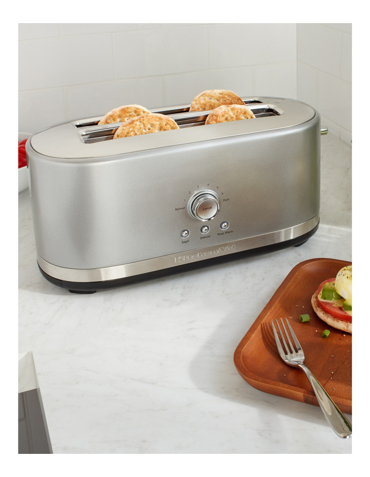 Artisan 4 Slice Long Slot Toaster: Contour Silver image 3