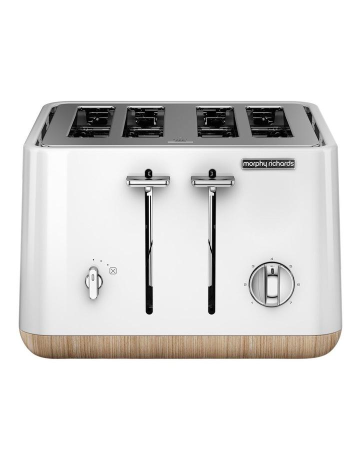 Scandi Aspects Wood 4 slice toaster:White 24005 image 1
