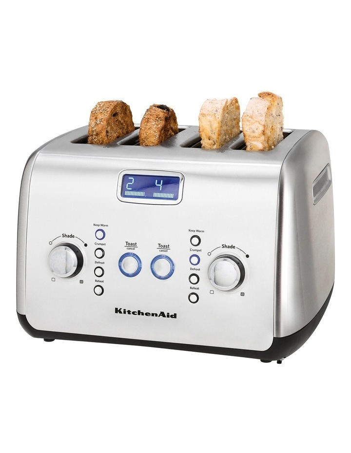 Artisan 4 Slice Toaster Brushed Stainless Steel KMT423 image 2