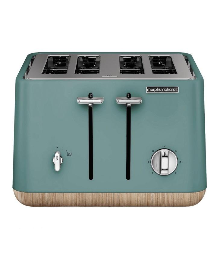 Scandi Aspects Wood 4 Slice Toaster: Teal 240009 image 1