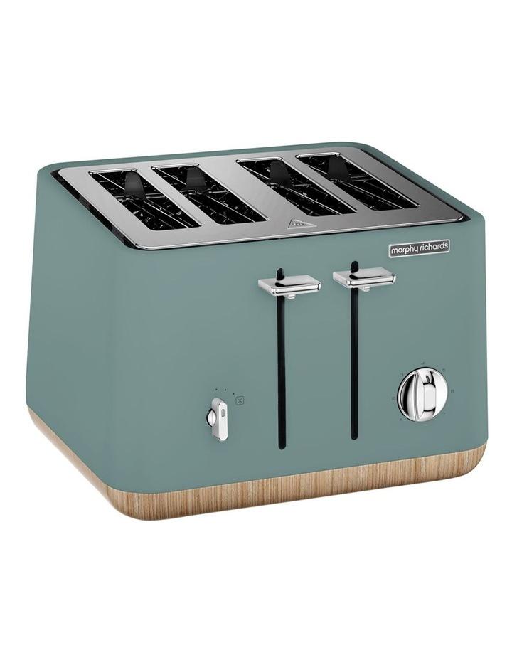 Scandi Aspects Wood 4 Slice Toaster: Teal 240009 image 2