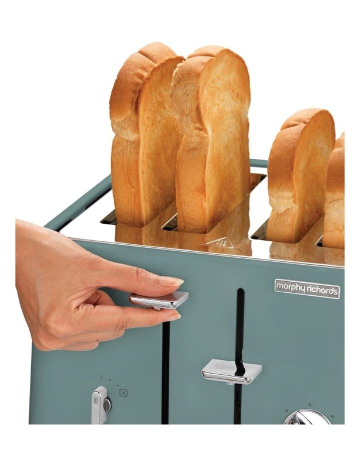 Scandi Aspects Wood 4 Slice Toaster: Teal 240009 image 5