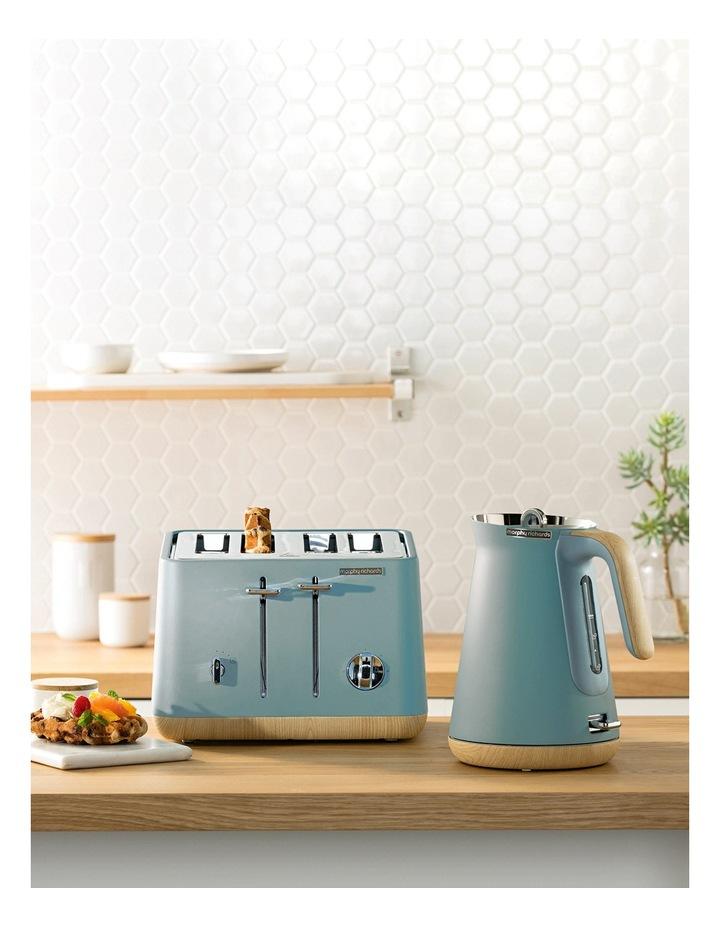 Scandi Aspects Wood 4 Slice Toaster: Teal 240009 image 8