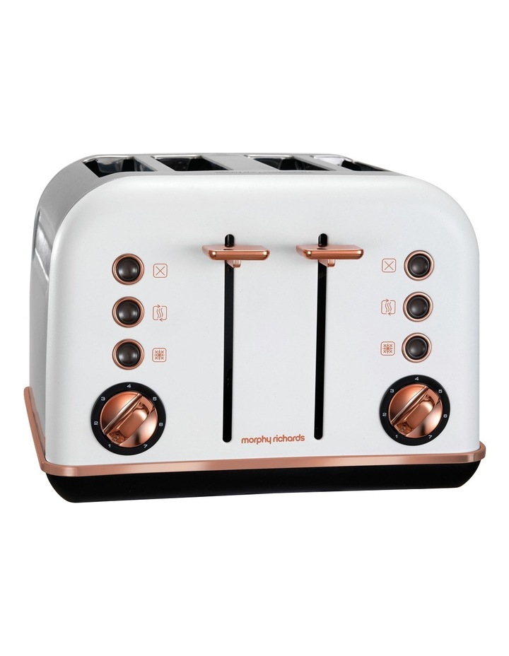 Accents 4 Slice Toaster Rose Gold White 242108 image 1