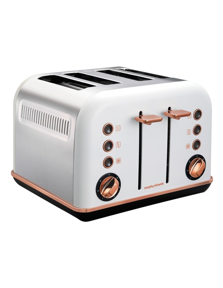 Accents 4 Slice Toaster Rose Gold White 242108 image 2