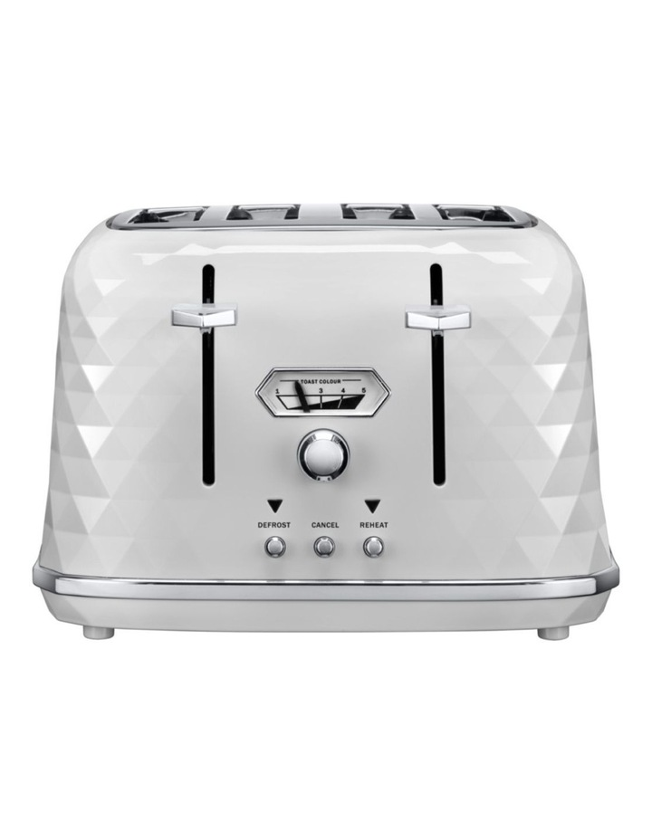 Brillante Exclusive 4 Slice Toaster White CTJX4003W image 1