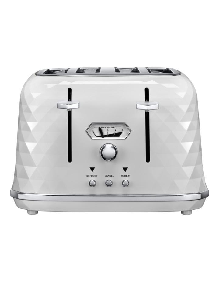 Brilliante Exclusive 4 Slice Toaster: White - CTJX4003W image 1