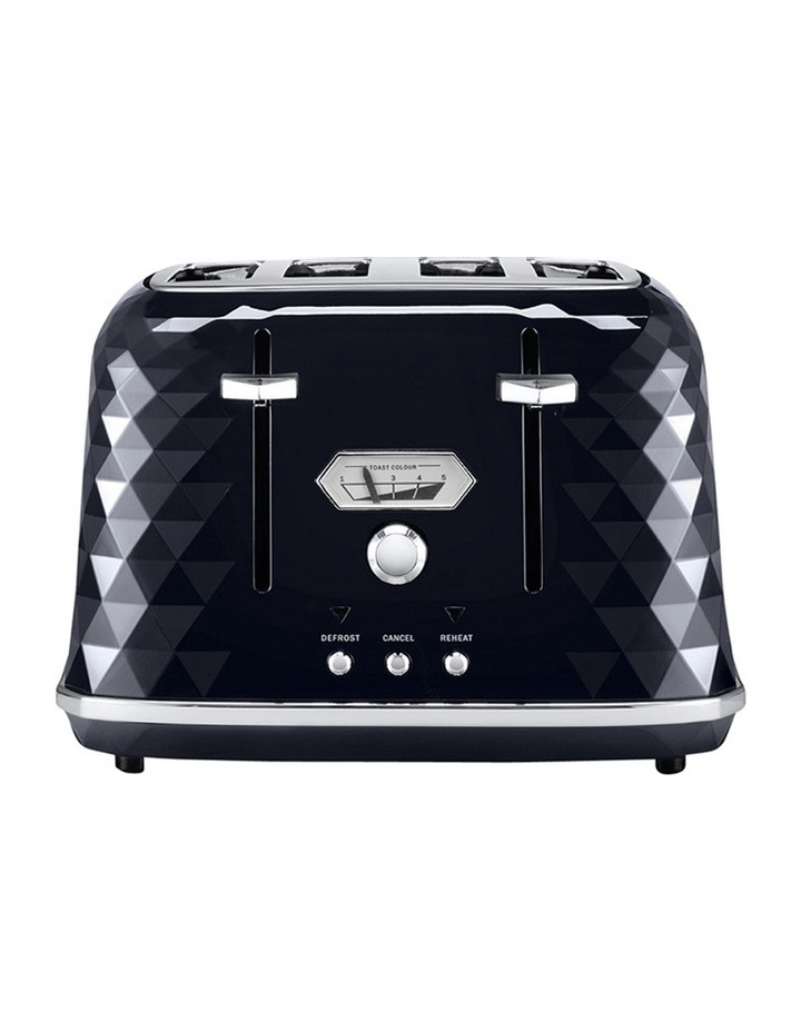 Brilliante Exclusive 4 Slice Toaster: Black - CTJX4003BK image 1