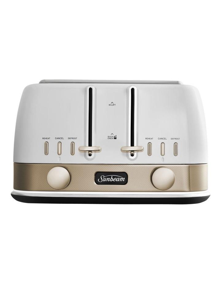 New York Collection 4 Slice Toaster White/Bronze TA4440WG image 1
