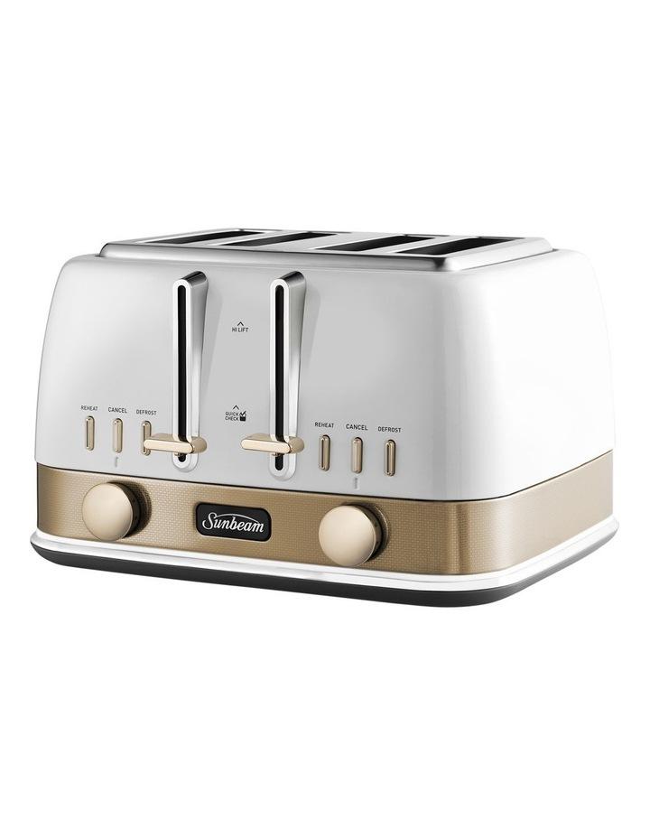 New York Collection 4 Slice Toaster White/Bronze TA4440WG image 2