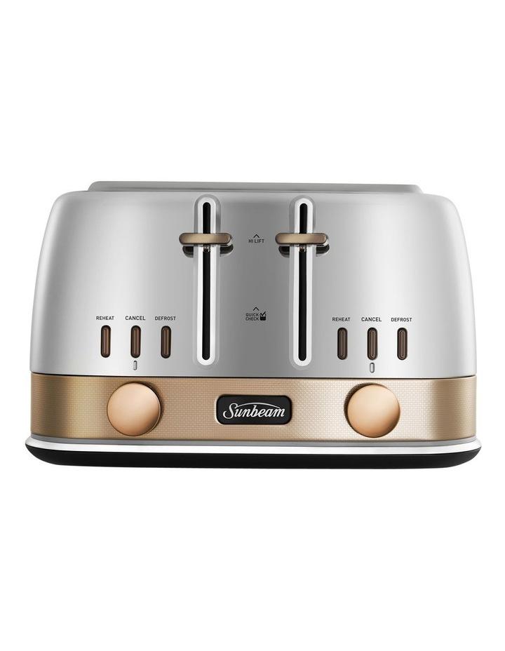 New York 4 Slice Toaster - White/Gold image 4