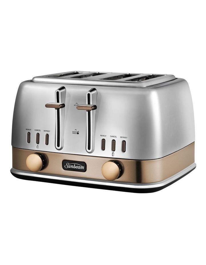 New York 4 Slice Toaster - White/Gold image 5