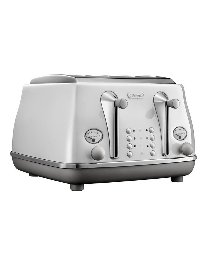 Icona Capitals Sydney 4 Slice Toaster White CTOC4003W image 1