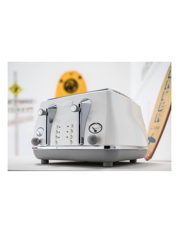 Icona Capitals Sydney 4 Slice Toaster White CTOC4003W image 3