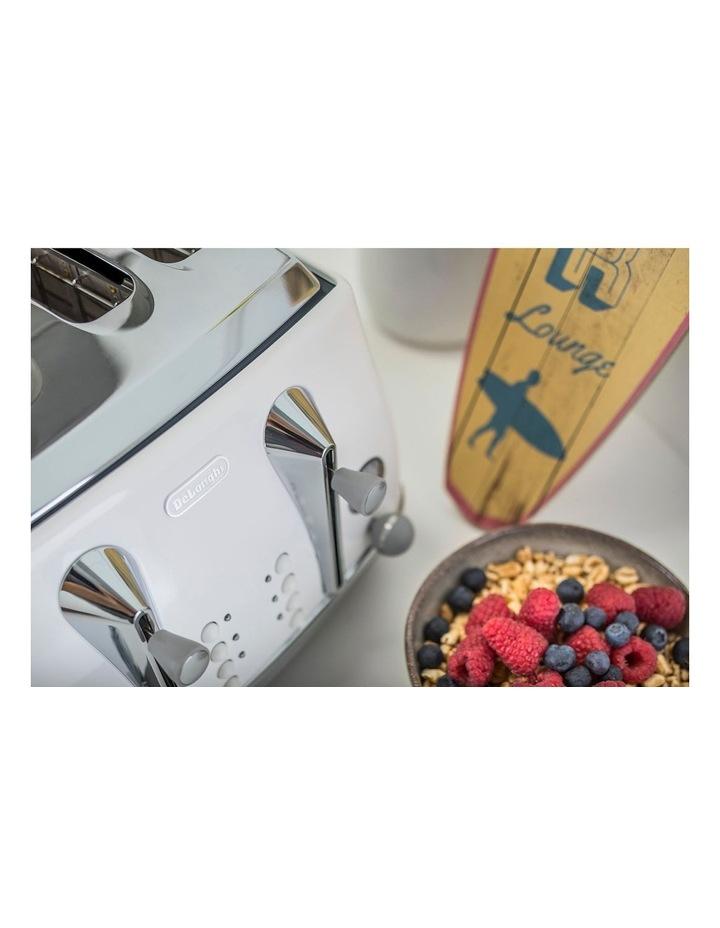 Icona Capitals Sydney 4 Slice Toaster White CTOC4003W image 6