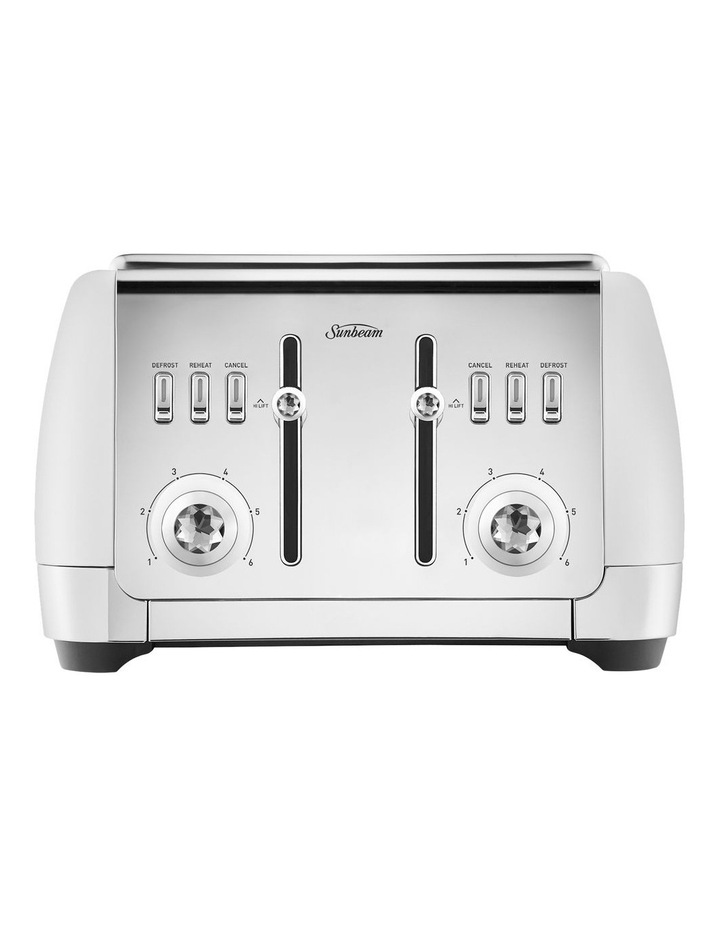 London 4 Slice toaster white TA2240W image 1