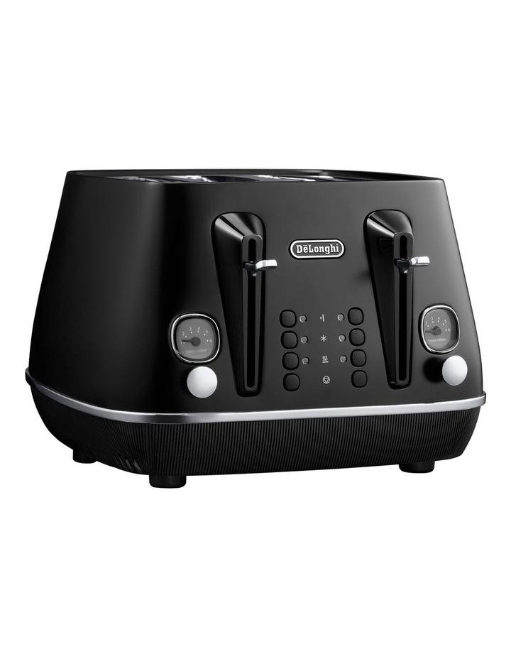 Distinta Moments 4 Slice Toaster: Sunset Black CTIN4003BK image 1