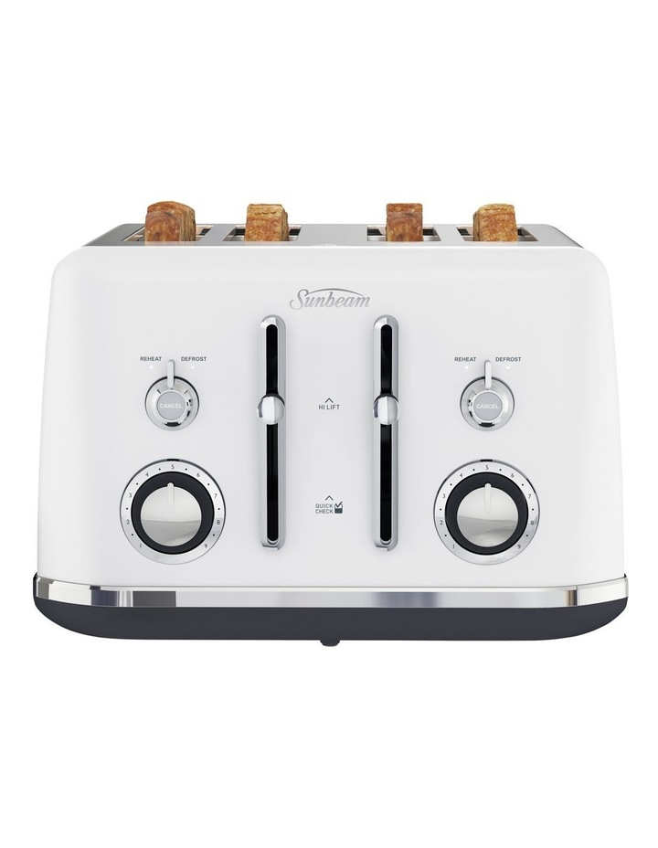 Alinea 4 Slice Toaster Ocean Mist White TA2740W image 1