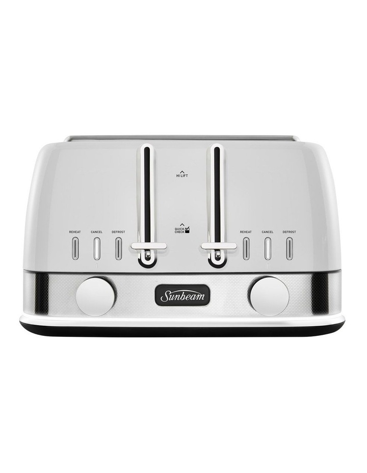 New York Collection 4 Slice Toaster White Silver TA4440WS image 1