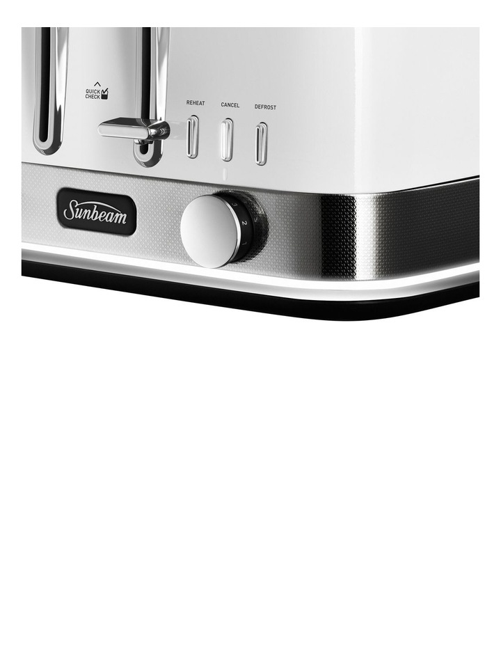 New York Collection 4 Slice Toaster White Silver TA4440WS image 2