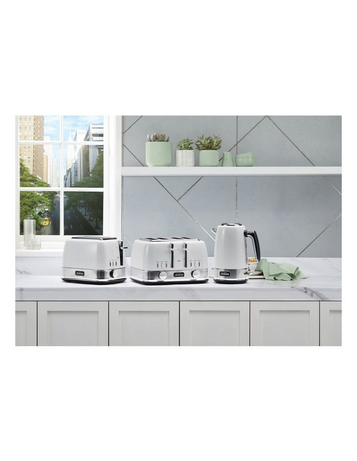 New York Collection 4 Slice Toaster White Silver TA4440WS image 5