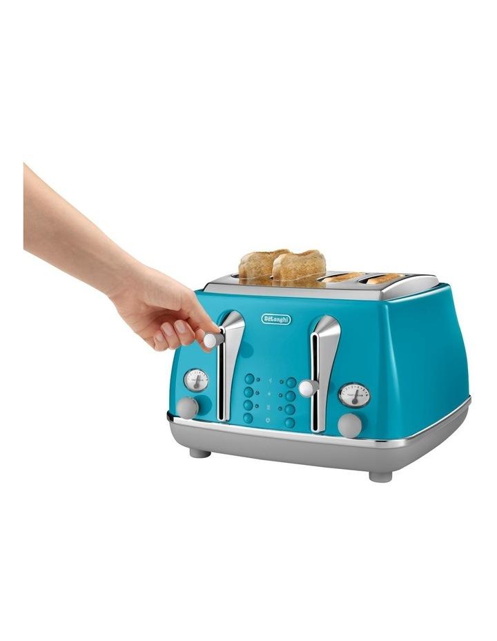 Icona Capitals Lisbon 4 Slice Toaster Azure CTOC4003AZ image 3