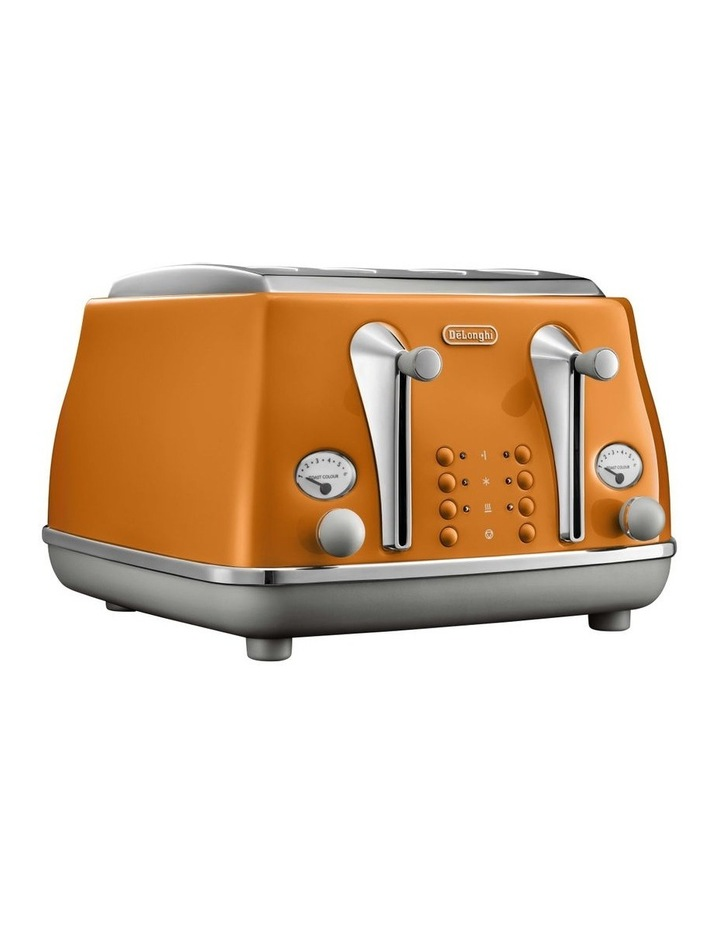 Icona Capitals 4 Slice Toaster - Rome Orange CTOC4003O image 1