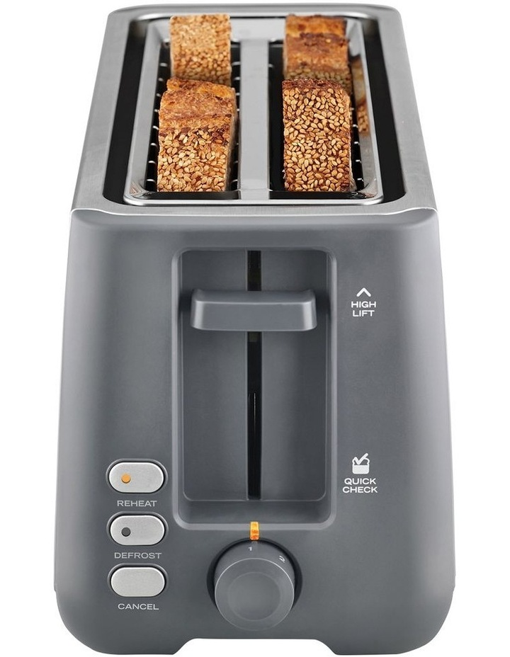 Long Slot 4 Slice Toaster Stainless Steel TA4540 image 3