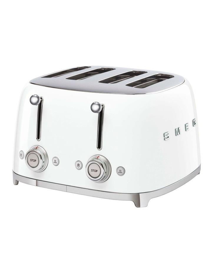 50's Style 4 Slice Toaster White TSF03WHAU image 1