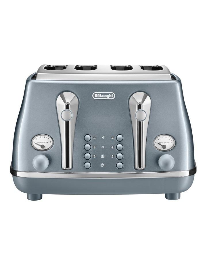 Icona Metallics 4 slice toaster Cobalt Blue CTOT4003AZ image 2
