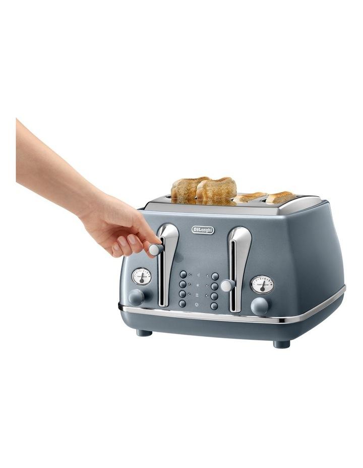Icona Metallics 4 slice toaster Cobalt Blue CTOT4003AZ image 4