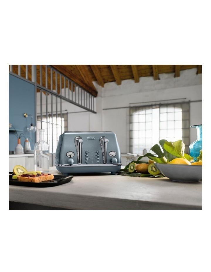 Icona Metallics 4 slice toaster Cobalt Blue CTOT4003AZ image 6