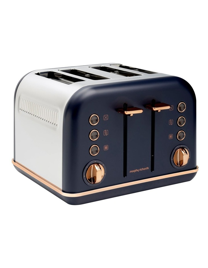 Accents Rose Gold 4 Slice Toaster Midnight Blue 242041 image 1
