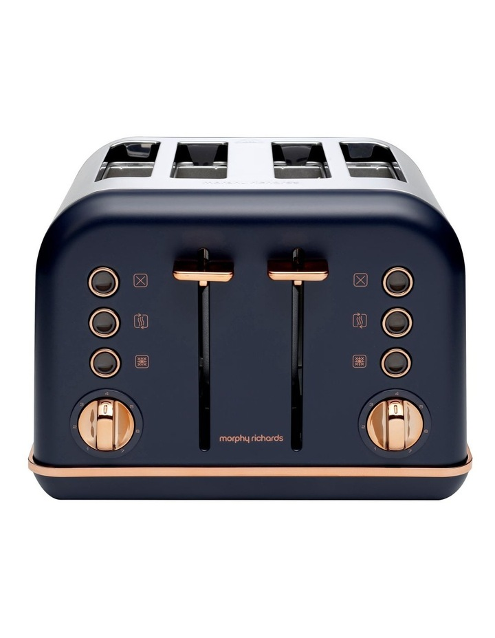 Accents Rose Gold 4 Slice Toaster Midnight Blue 242041 image 2