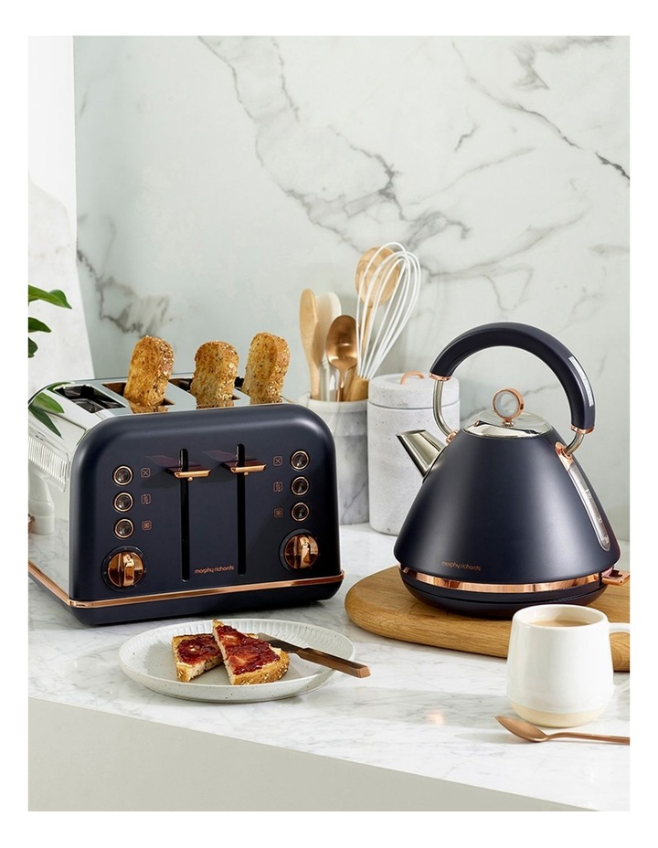 Accents Rose Gold 4 Slice Toaster Midnight Blue 242041 image 3