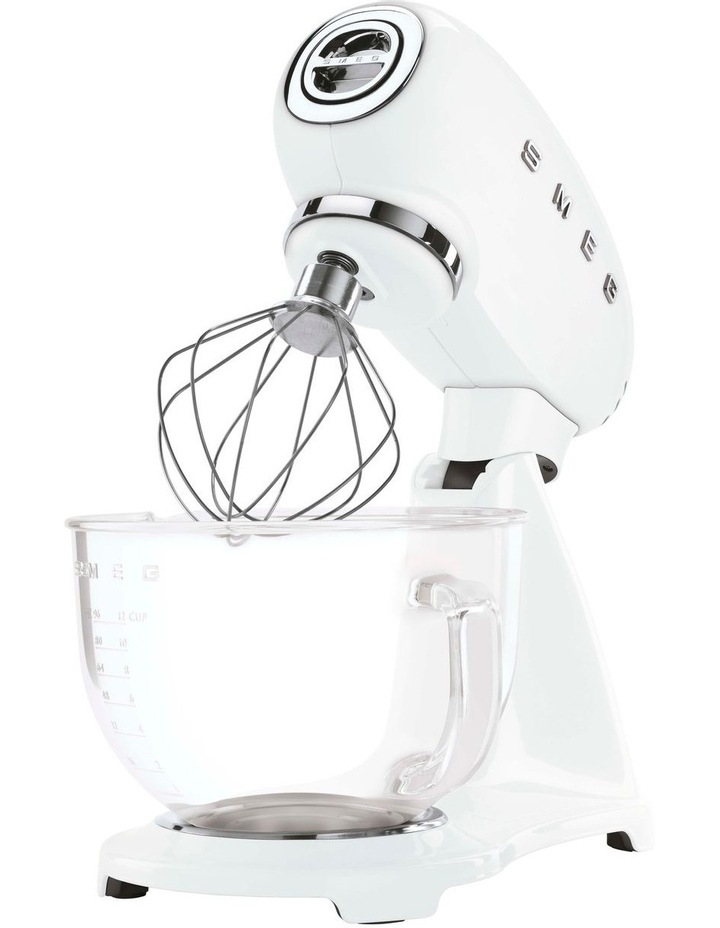 50's Style Mixer with Glass Bowl and Flex Edge Beater White SMF13WHAU image 2
