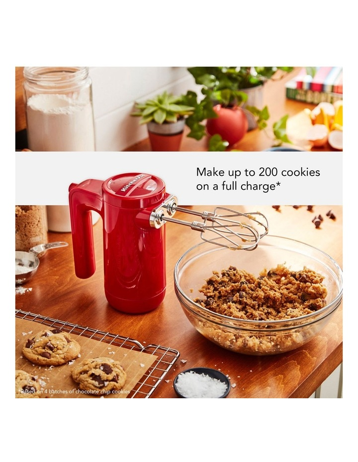Cordless 7 Speed Hand Mixer Empire Red 5KHMB732AER image 3