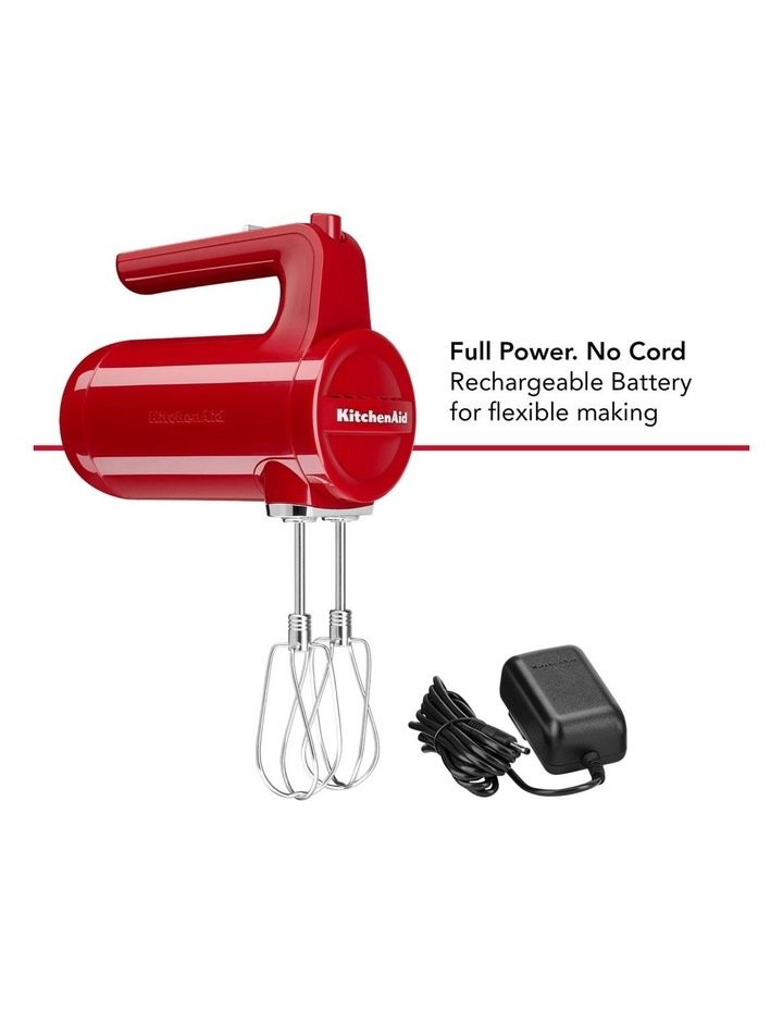 Cordless 7 Speed Hand Mixer Empire Red 5KHMB732AER image 4