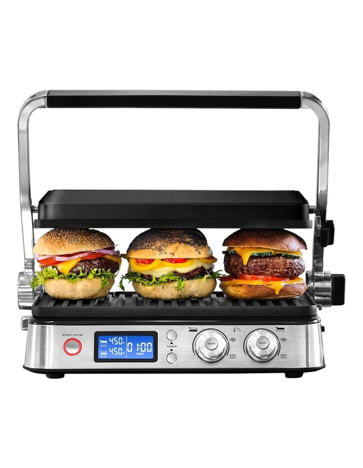 3 in 1 Digital Benchtop Multi Grill: Stainless Steel CGH1012D image 1