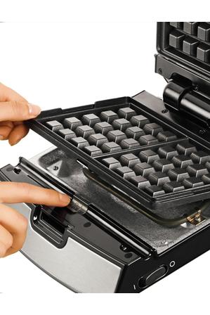 Tefal - 2 in 1 Sandwich & Waffle Maker with interchangable plates: Silver/Black