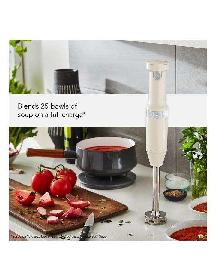 Cordless Variable Speed Hand Blender Almond Cream 5KHBBV83AAC image 4