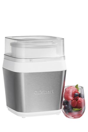 Cuisinart - Fruit Scoop Frozen Dessert Maker: Silver: ICE-31XA