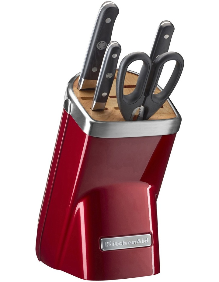 Knife Block 5 Piece: Candy Apple Red: KKFMA05CA image 1