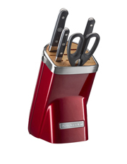 KitchenAid - Knife Block 5 Piece: Candy Apple Red: KKFMA05CA