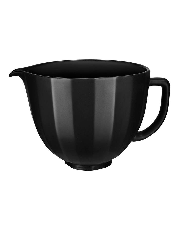 4.7L Shell Ceramic Bowl for Tilt Head Stand Mixer Black 5KSM2CB5PBS image 1